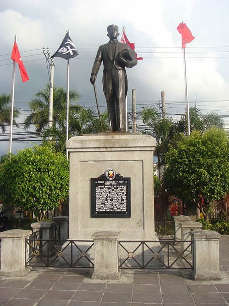Emilio Aguinaldo monument at Barasoain Church