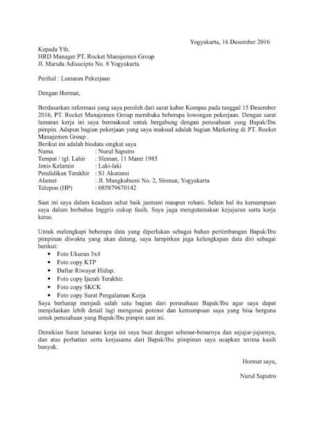 Langkah-Langkah Membuat Surat Lamaran Kerja dan Contohnya