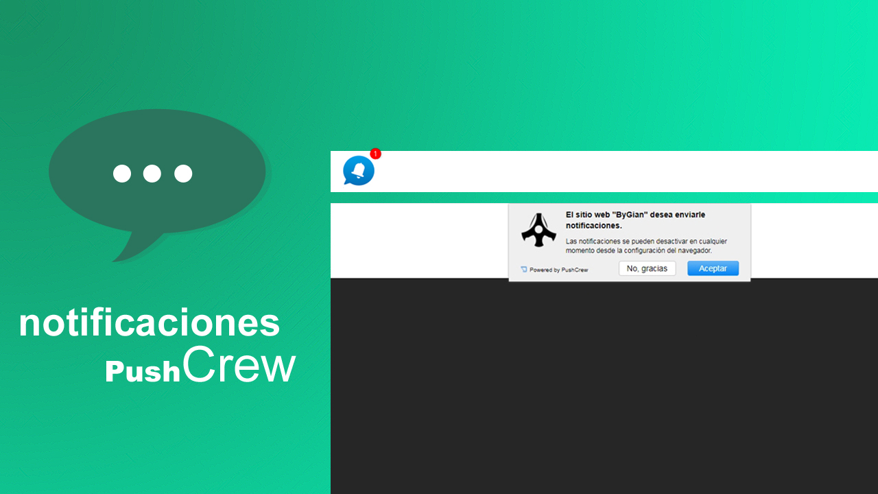 Pushcrew - Notificaciones push para tu blog