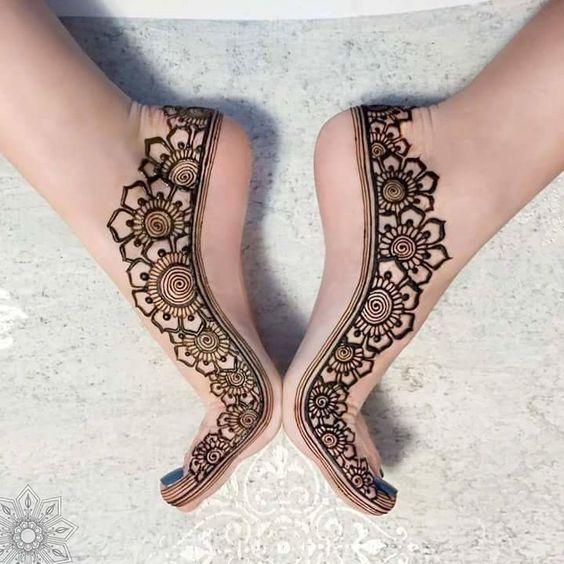 Mehndi Bridal Foot : Stunning feet mehndi designs for the bride bling sparkle