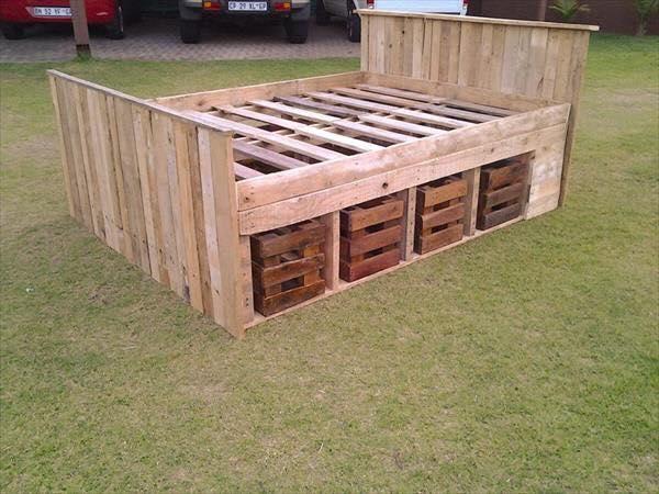 Ideas para reciclar palets de madera construccion y - Reciclaje de palet ...