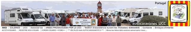 Capçelera del web de la Secció d'Autocaravanes de la UCC