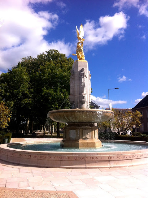 American Monument and fountain in the city of Tours in the Loire Valley