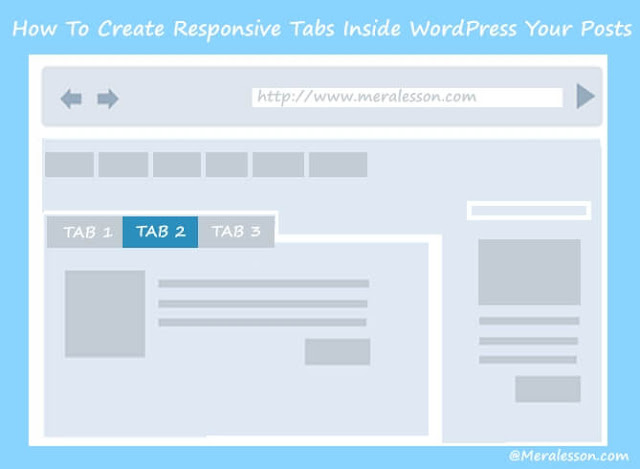 Add tabs in your WordPress