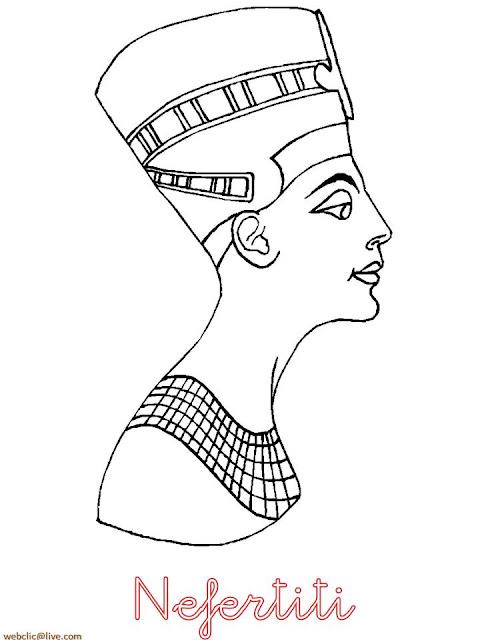 Desenho de Nefertiti para colorir
