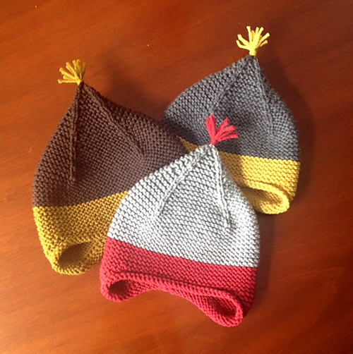 b2e12b3b685 Daily Knitting Patterns  Garter Ear Flap Hat