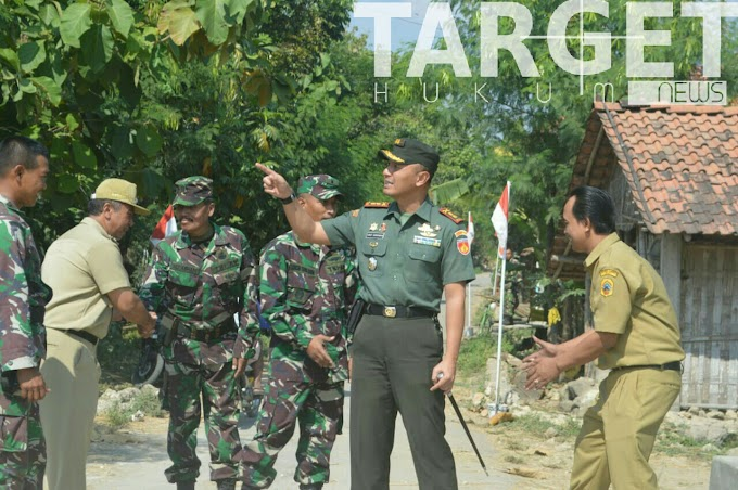 Dandim Pati Cek Kesiapan Pembukaan TMMD Sengkuyung Tahap II di Desa Kasiyan Sukolilo Pati