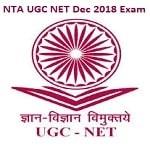 NTA NET Dec Exam Admit Card