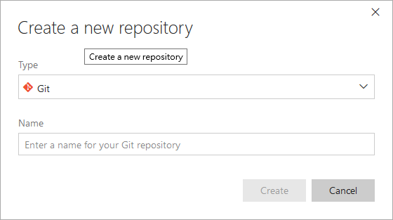 vsts - create a new repository
