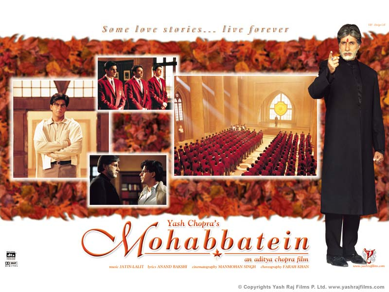 Bollywood Hot Actress Celebs,Pictures and Photos,: Mohabbatein wallpapers