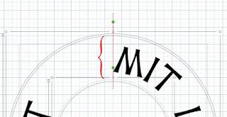 Zoomansicht Emblem mit Ziehpunkten und Andock-Kreis
