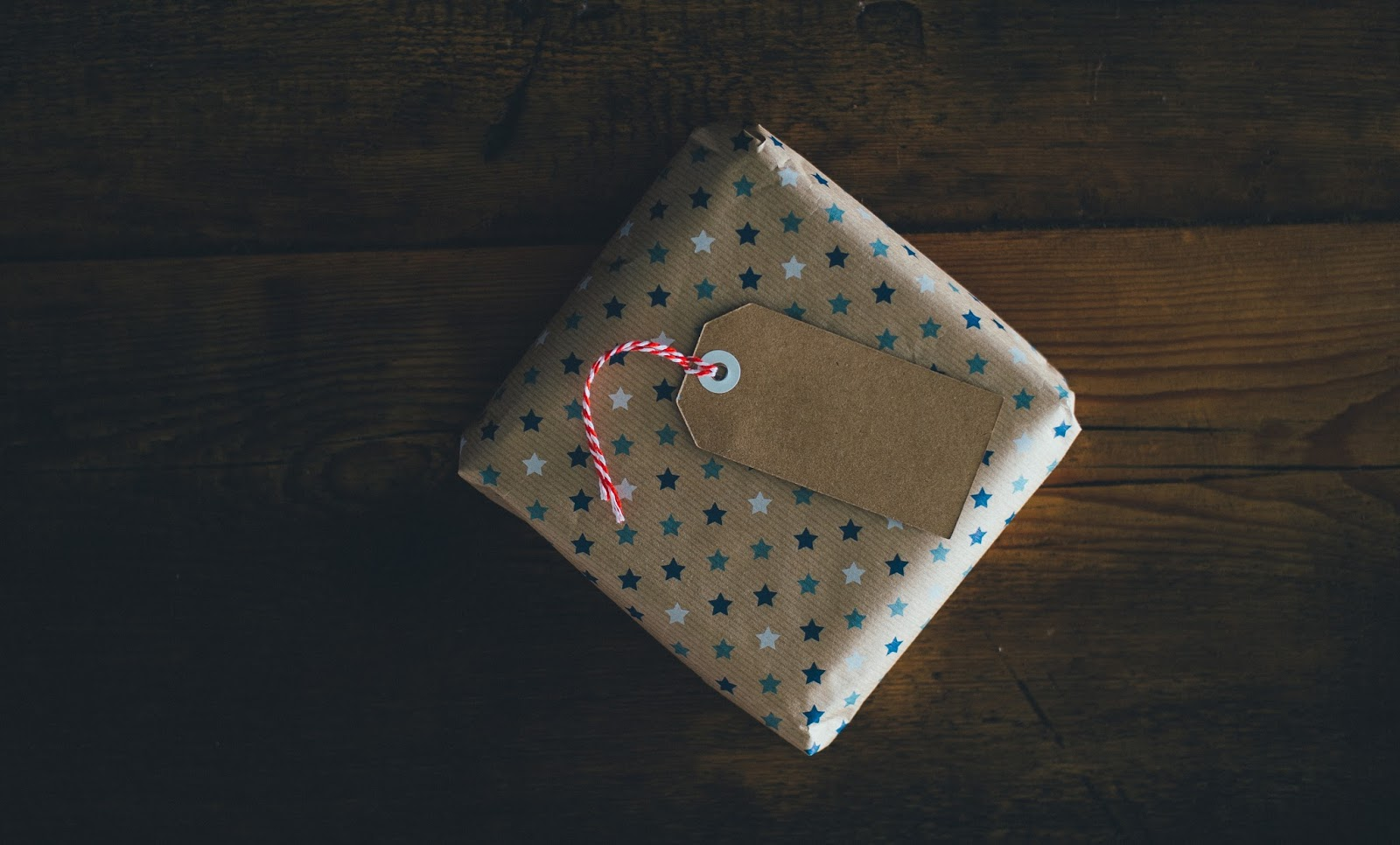 Small wrapped Christmas present