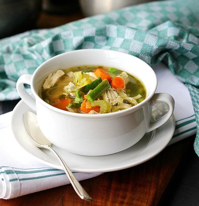 Chicken Orzo Soup with Spring Vegetables