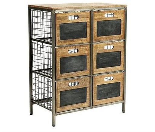 office storage cabinet with basket drawers