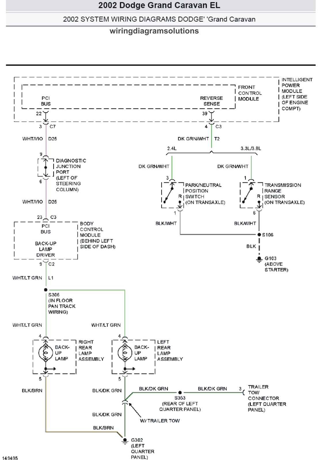 2002 Dodge Grand Caravan EL System Wiring Diagrams