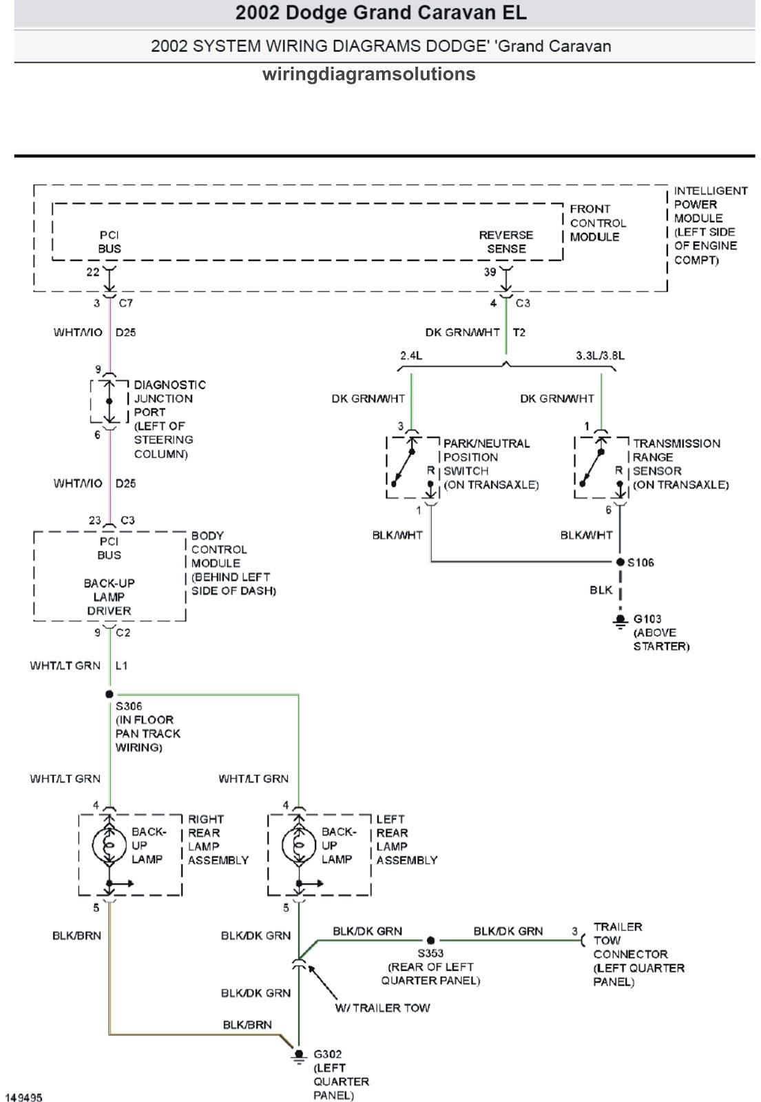 2002 Dodge Grand Caravan EL System Wiring Diagrams