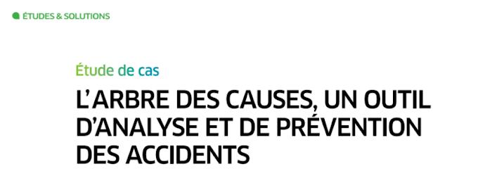 Étude de cas : L'ARBRE DES CAUSES, UN OUTIL D'ANALYSE ET DE PRÉVENTION DES ACCIDENTS