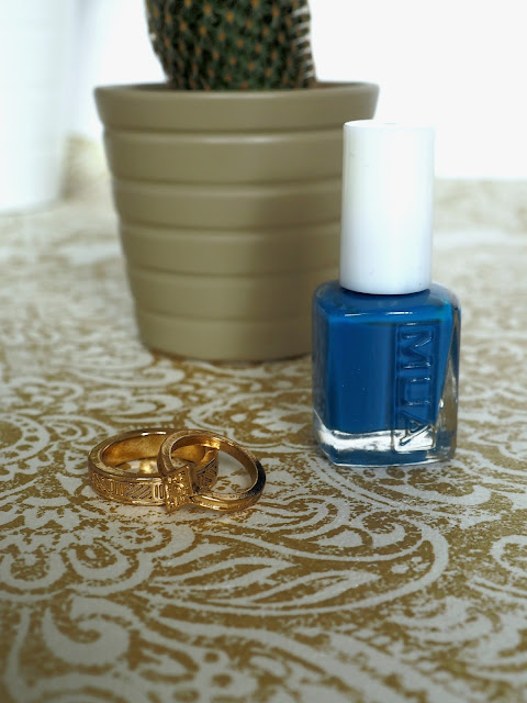 mua nail varnish review ocean blue nail polish