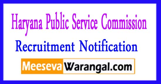 HPSC (Haryana Public Service Commission) Recruitment