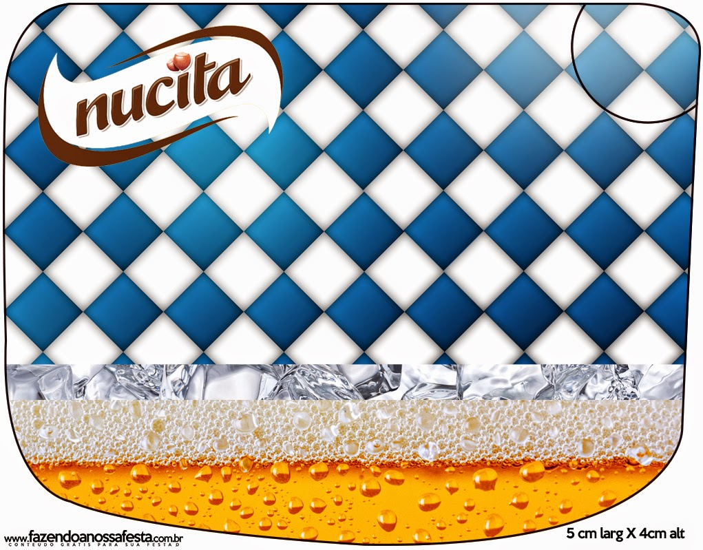 Etiqueta Nucita de Fiesta de la Cerveza para imprimir gratis.