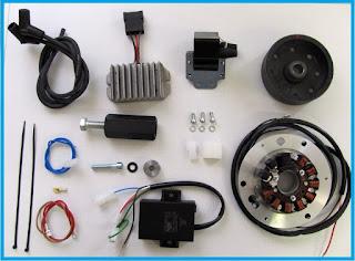 mungkin anda pernah mengalami masalah bohlam lampu sepda motor anda sering kali putus dan Mengenal Sistem Kelistrikan Sepeda Motor