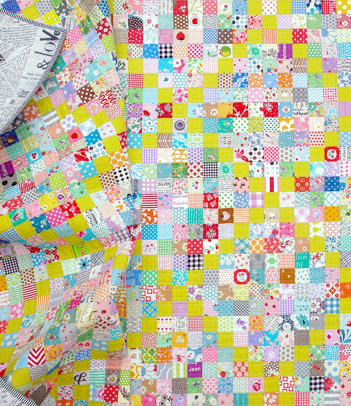 Scrappy Irish Chain Quilt - Pattern available | © Red Pepper Quilts 2017