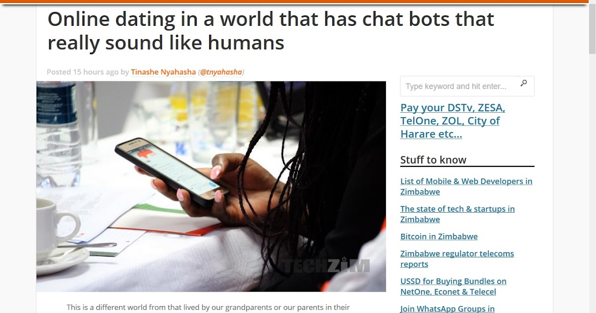 Online dating chat bot