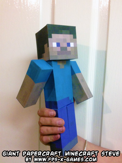 Giant MineCraft Steve Papercraft Toy