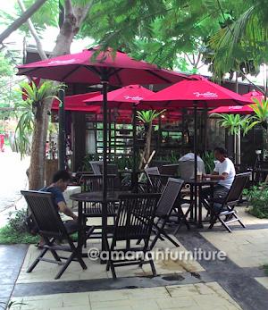 Jual Meja Payung Cafe Jati Jepara Ukuran 3 Meter