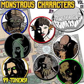 Roll20 Tokens: Monstrous Characters Volume 1 - Points of Light