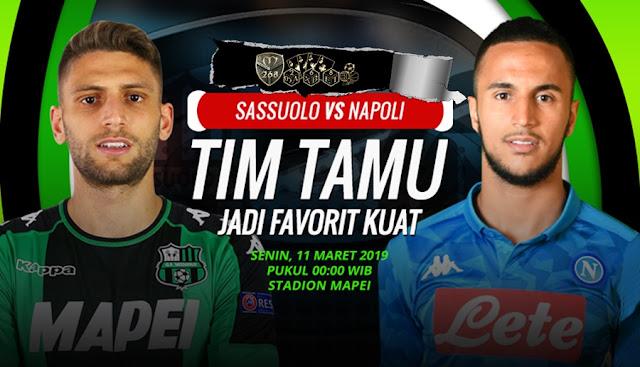 Prediksi Sassuolo Vs Napoli, Senin 11 Maret 2019 Pukul 00.00 WIB