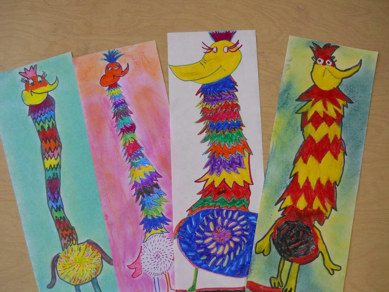 The Elementary Art Room Dr Seuss Creations Tizzled