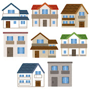 いろいろな家のイラスト
