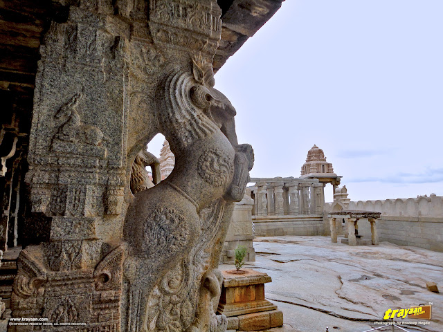 A beautifully carved Yali pillar, carved from granite
