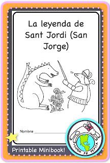 La leyenda de Sant Jordi Printable Minibook Libro Imprimible