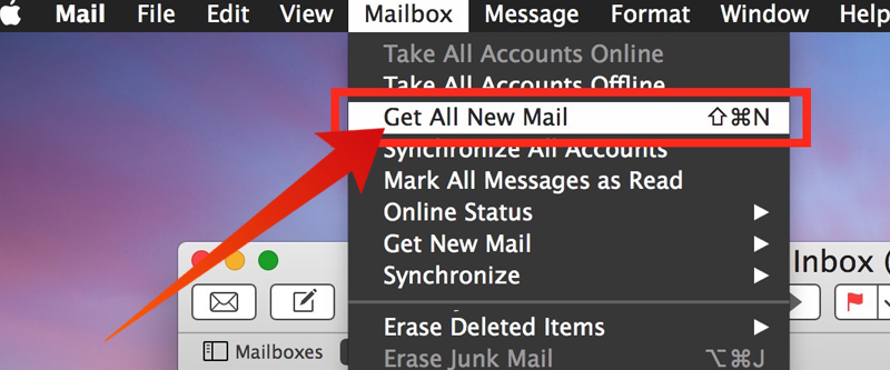 Refresh Mail App on Mac