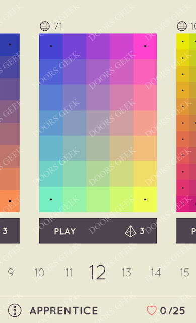I Love Hue Apprentice Level 12 Solution, Cheats, Walkthrough