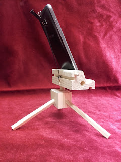 mobile stand wood cell phone tripod