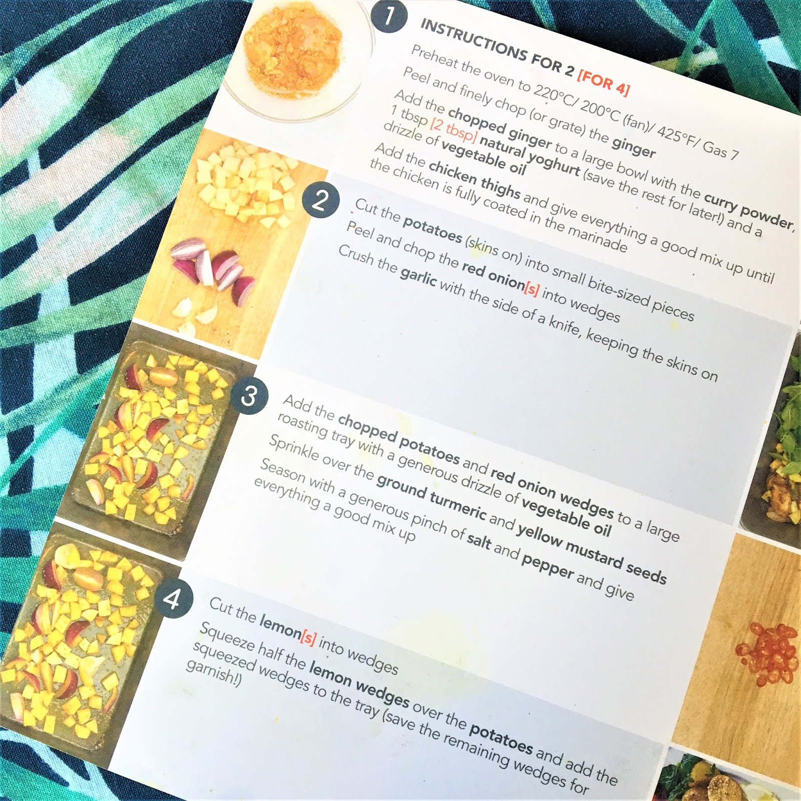 Gousto Recipe Card