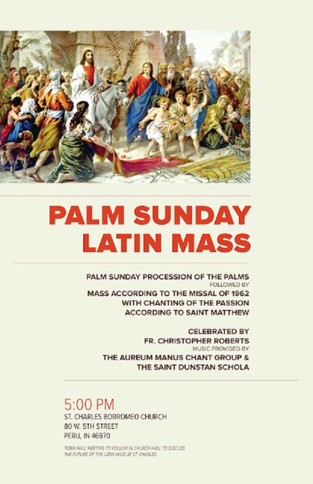 Zephyrinus: Palm Sunday Latin Mass And Procession  Tomorrow