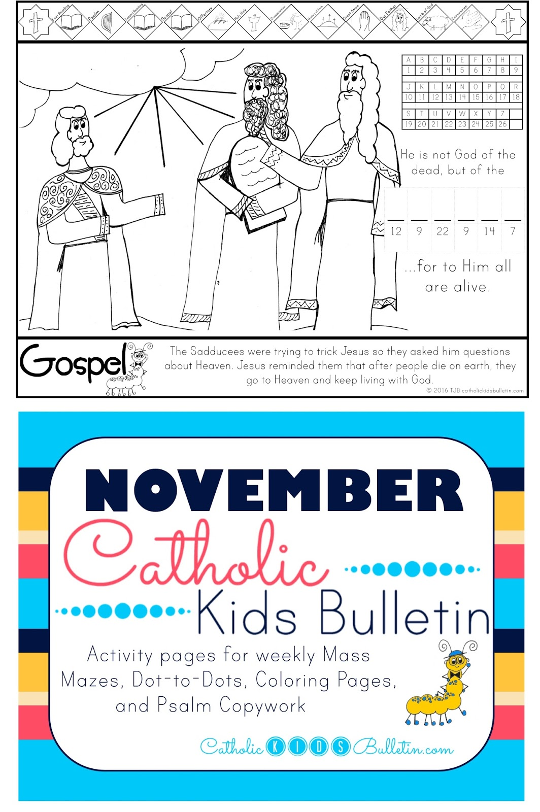 Catholic Kids Bulletin: Weekly Mass Prep for Kids! Luke 20:27-38