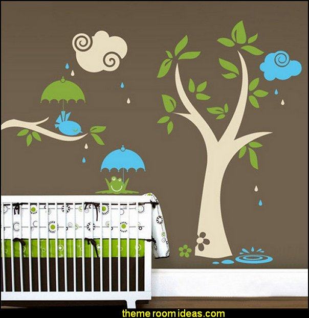 Tree With Bird And Frog Wallpaper - Wall Stickers