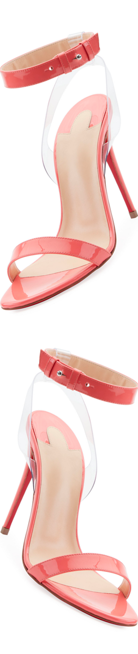 Christian Louboutin Jonatina 100mm Illusion Red Sole Sandal Pink