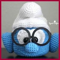 Cabeza de pitufo guarda gafas