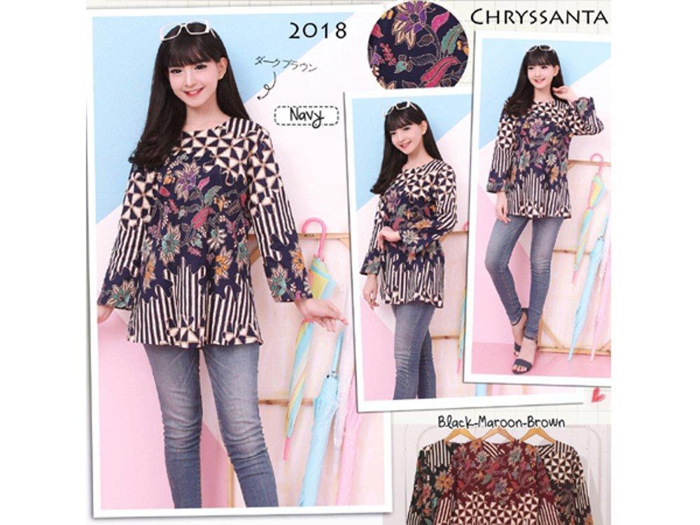 Model Baju Batik Atasan Untuk Wanita Terbaru - iFabrix c7b231bf50