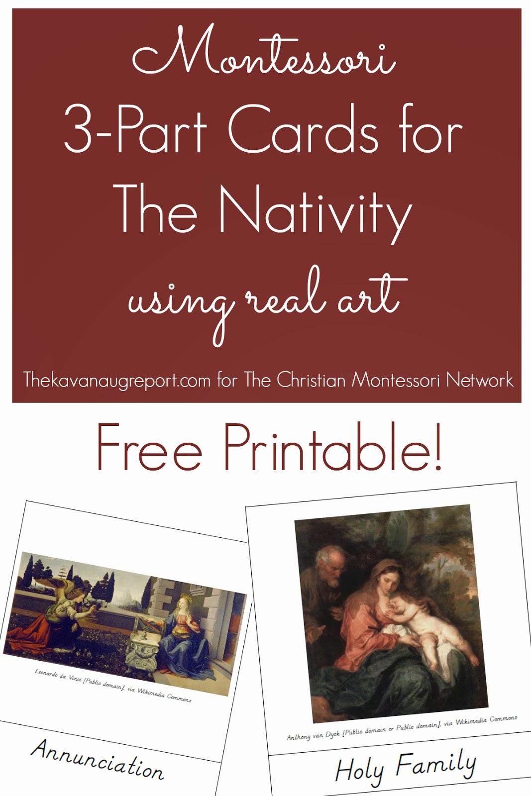 Montessori Nativity 3-Part Cards