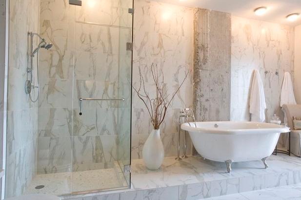 Motif Keramik dinding kamar mandi minimalis modern terbaru
