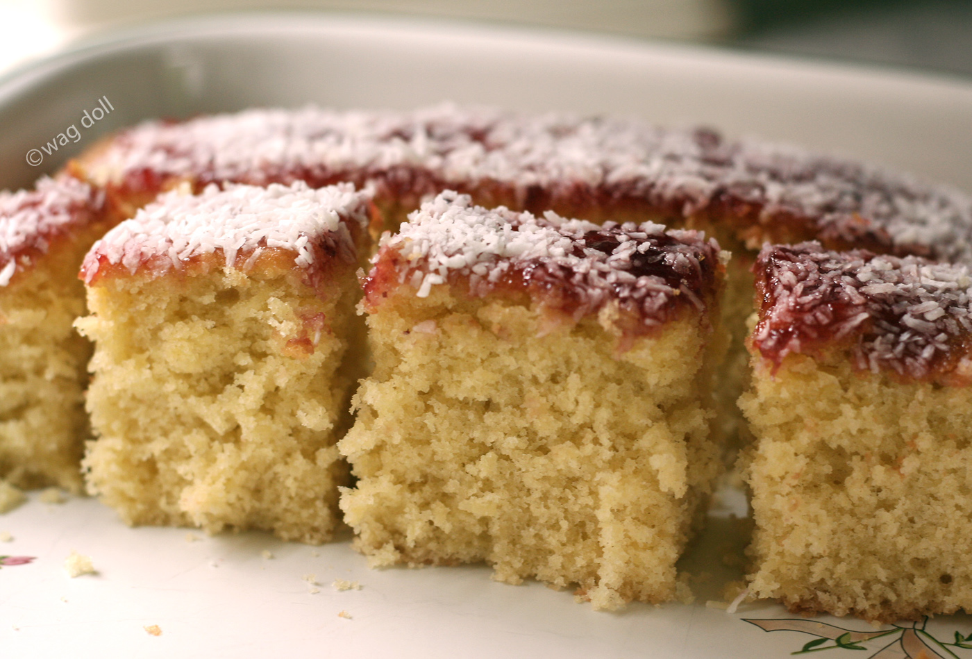 Jam And Coconut Sponge Cake Using Mashed Potato