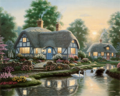 Serenity Cottages II by Richard Burns