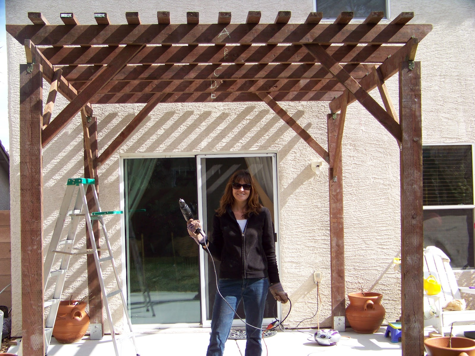 Mom The Builder Backyard Patio Pergola Part Ii